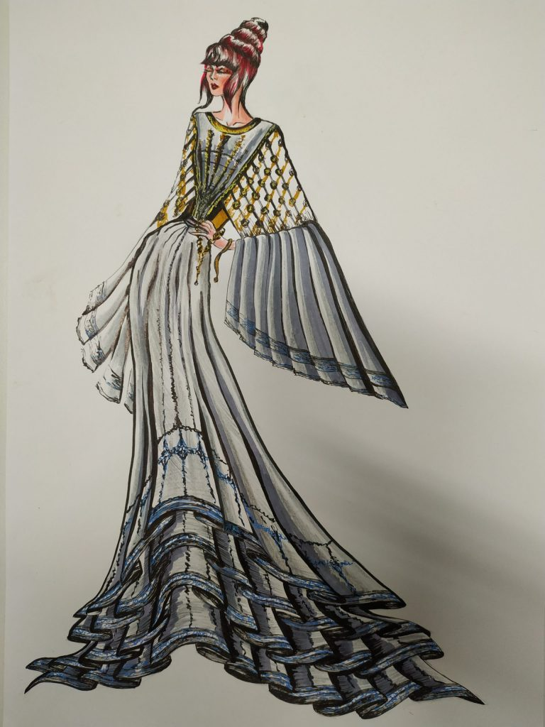 Fashion Designs by Maria Vytinidou for Collection of woven fabrics (1)