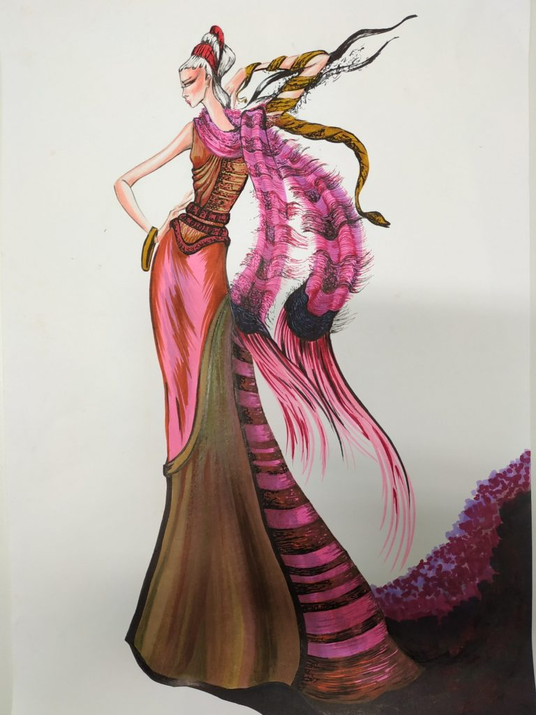 Fashion Designs by Maria Vytinidou for Collection of woven fabrics (3)